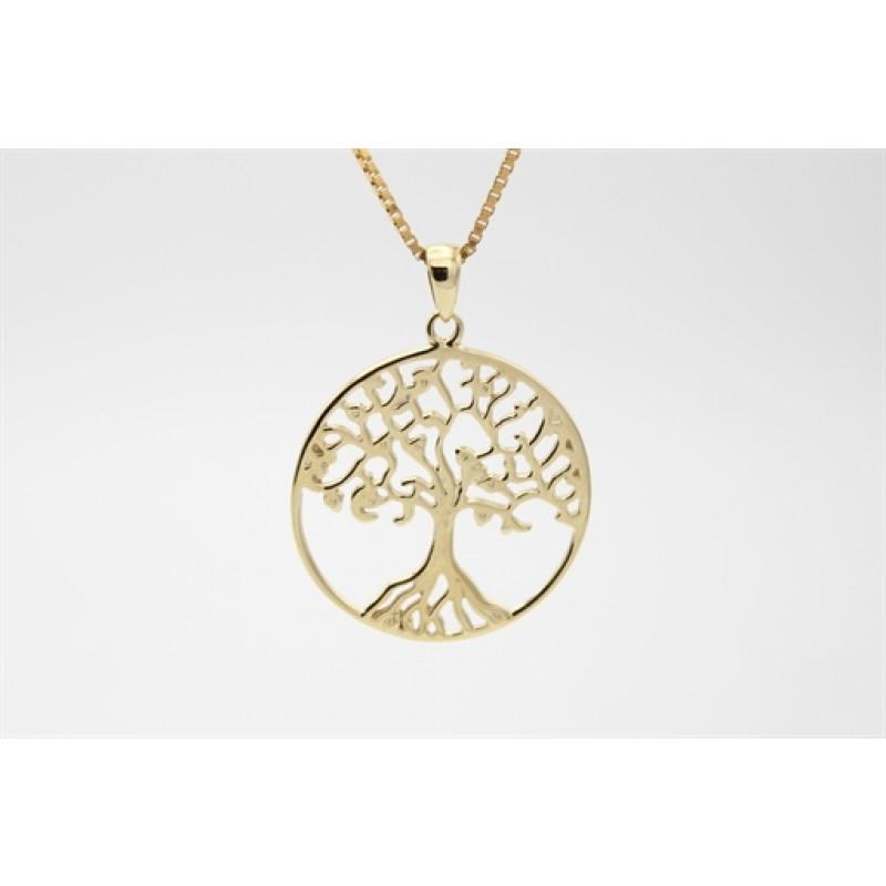 Tree of Life 8 kt halskæde