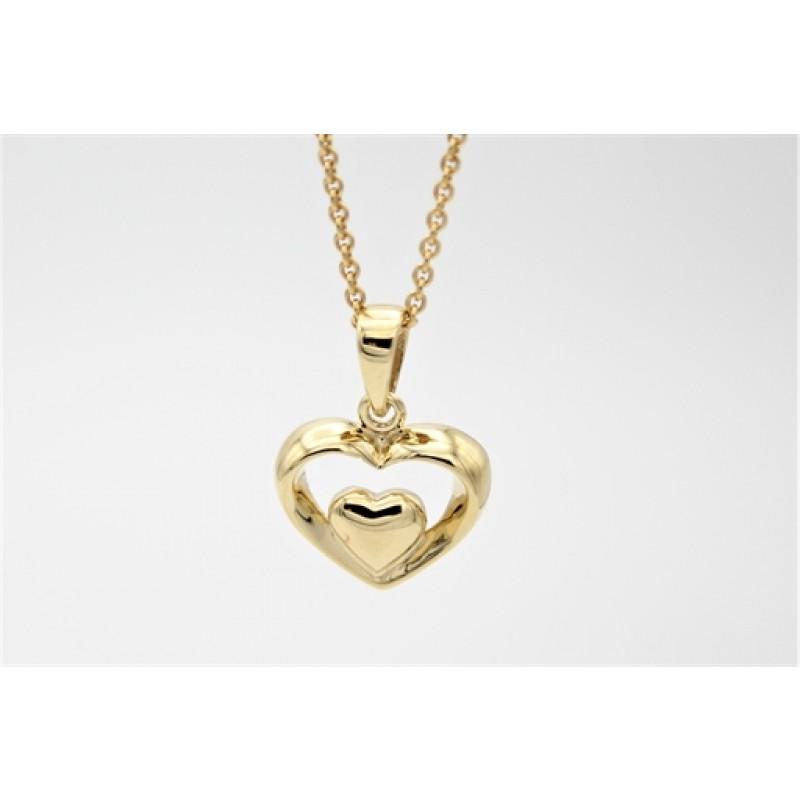 Hearts 8 kt halskæde