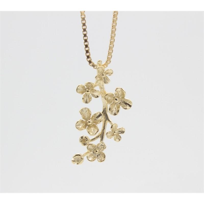 Flower 8 kt halskæde
