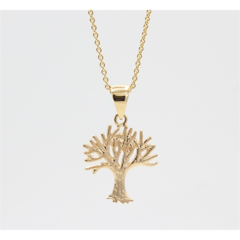 Tree of Life 14 kt halskæde, mat