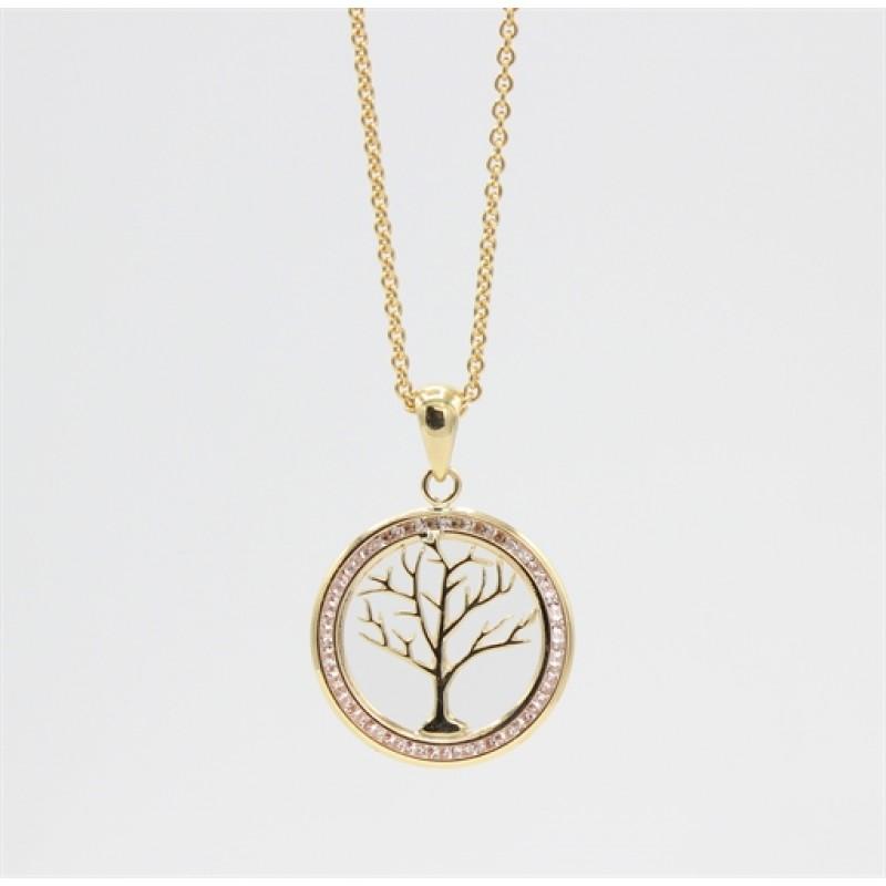 Tree of Life 8 kt halskæde, zirk.