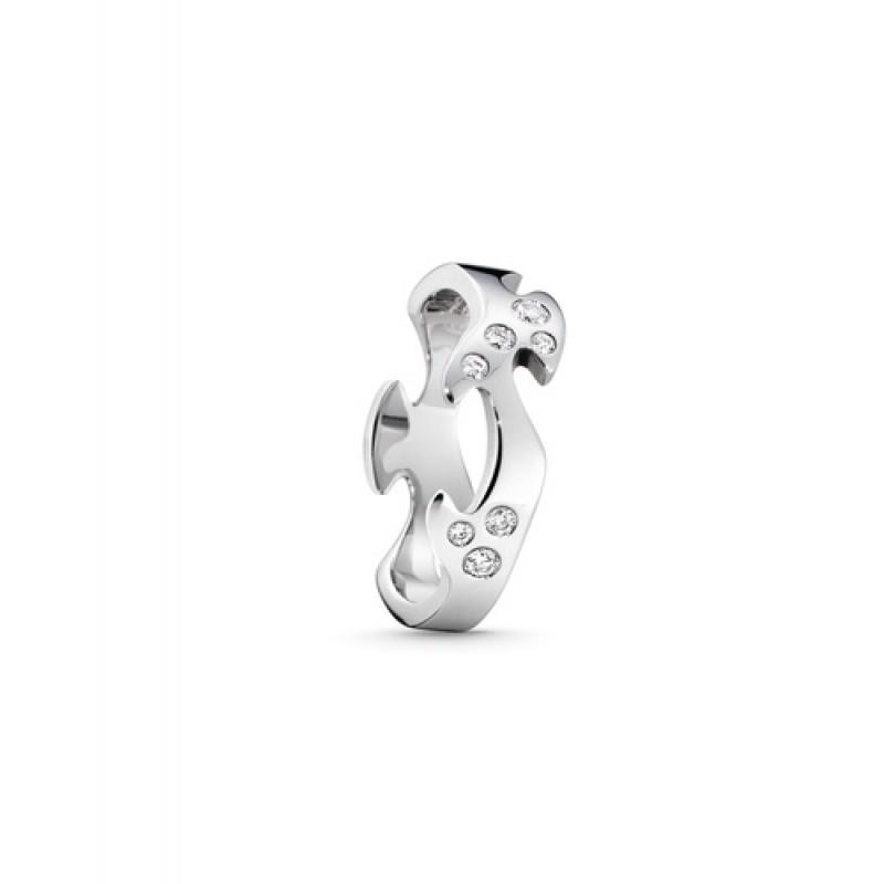 FUSION ring midterstykke hvidguld med diamanter