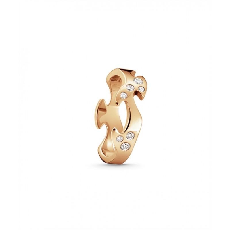 FUSION ring midterstykke rosaguld med diamanter