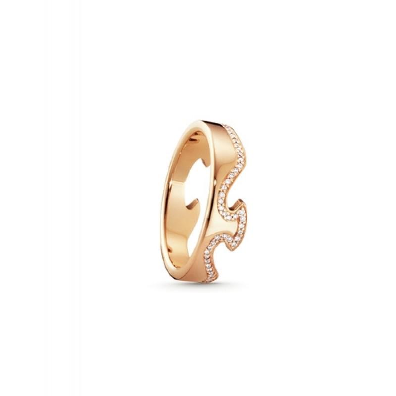 FUSION ring endestykke rosaguld diamantkant