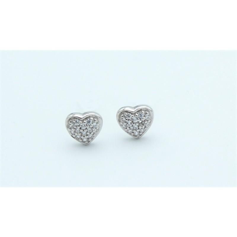 Hearts ørestikker, zirk., sølv