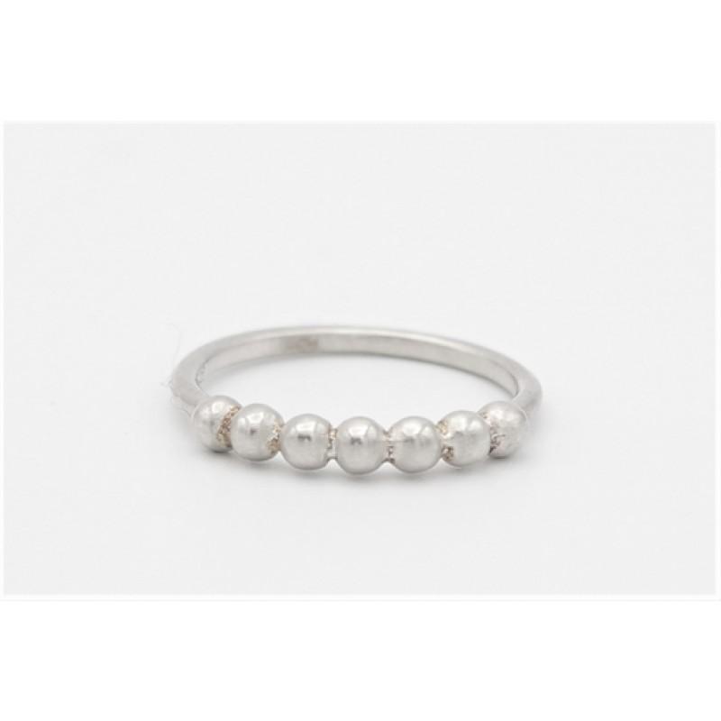 Kugle ring, sølv