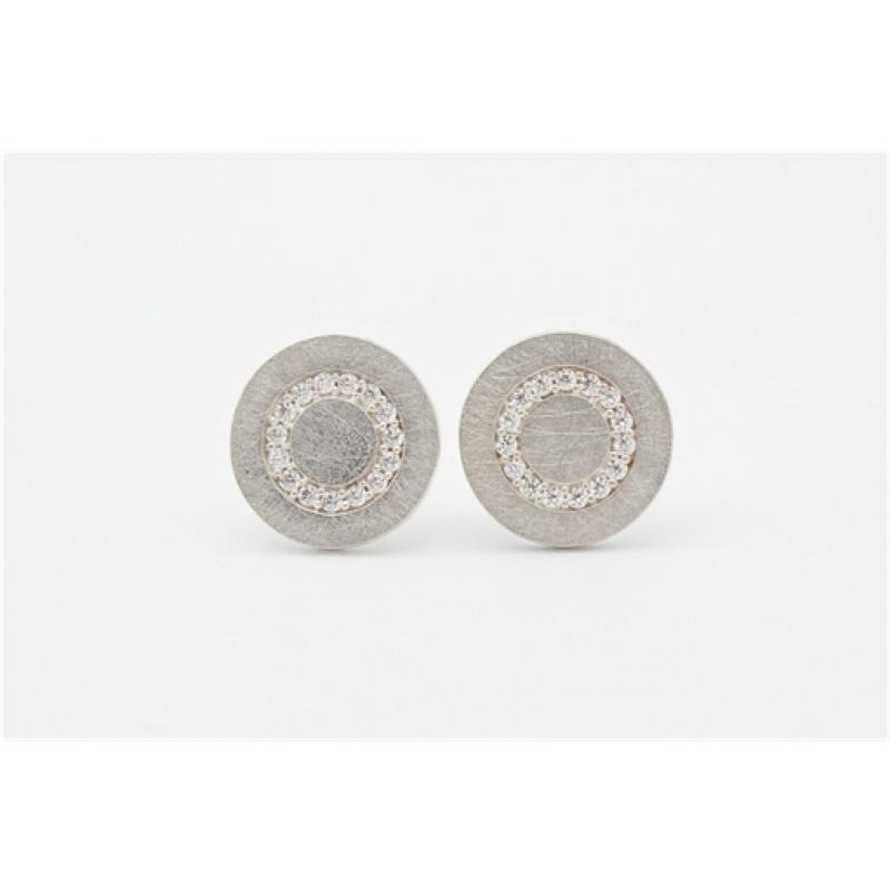 Iris sølv ørestikker