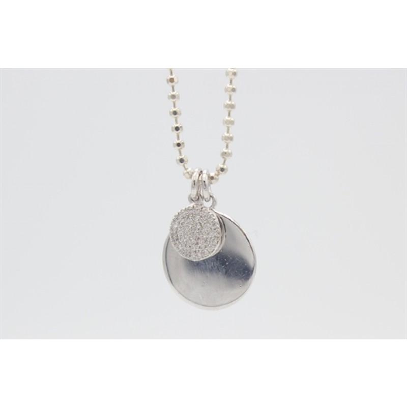 Sølv halskæde med cirkler