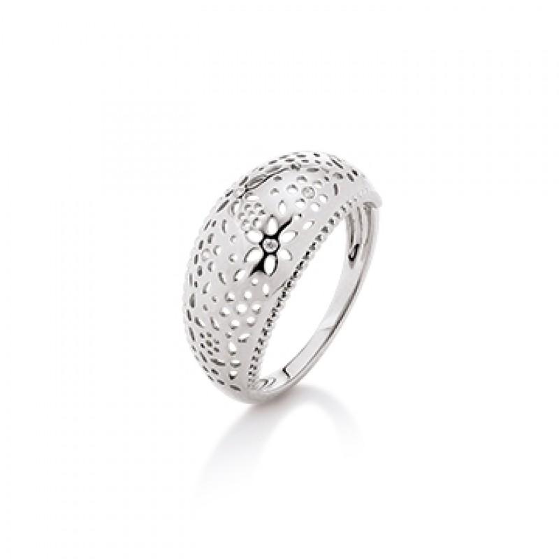 KRANZ & ZIEGLER sølv ring med blomster