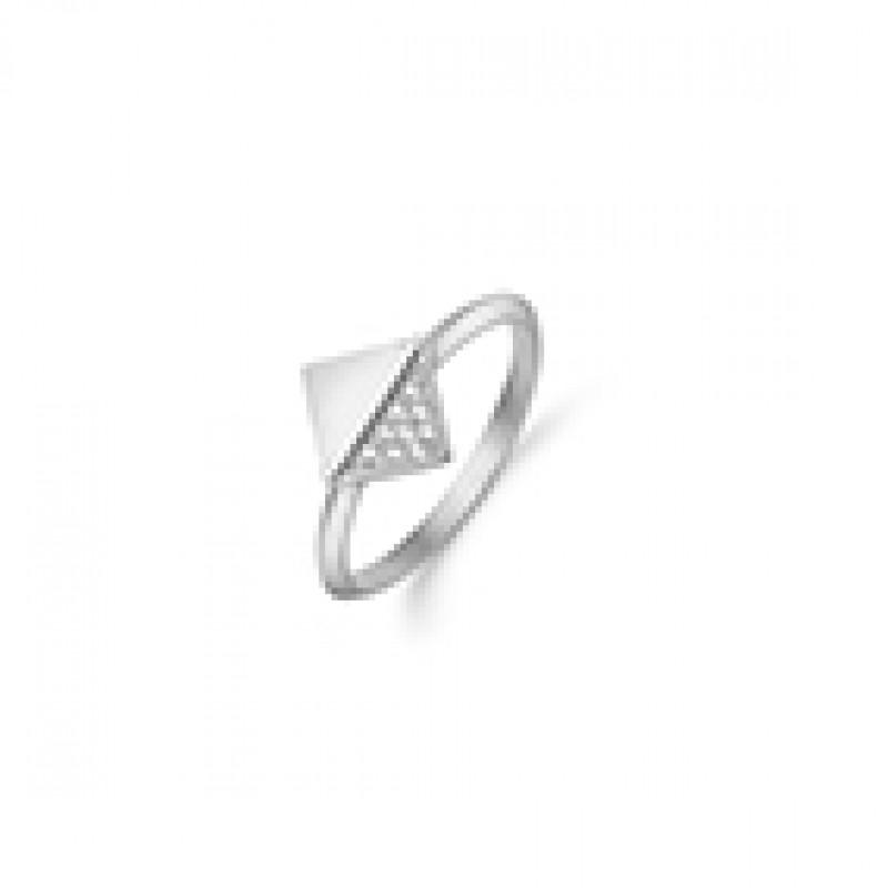 KRANZ & ZIEGLER sølv ring med firkant og zirk.
