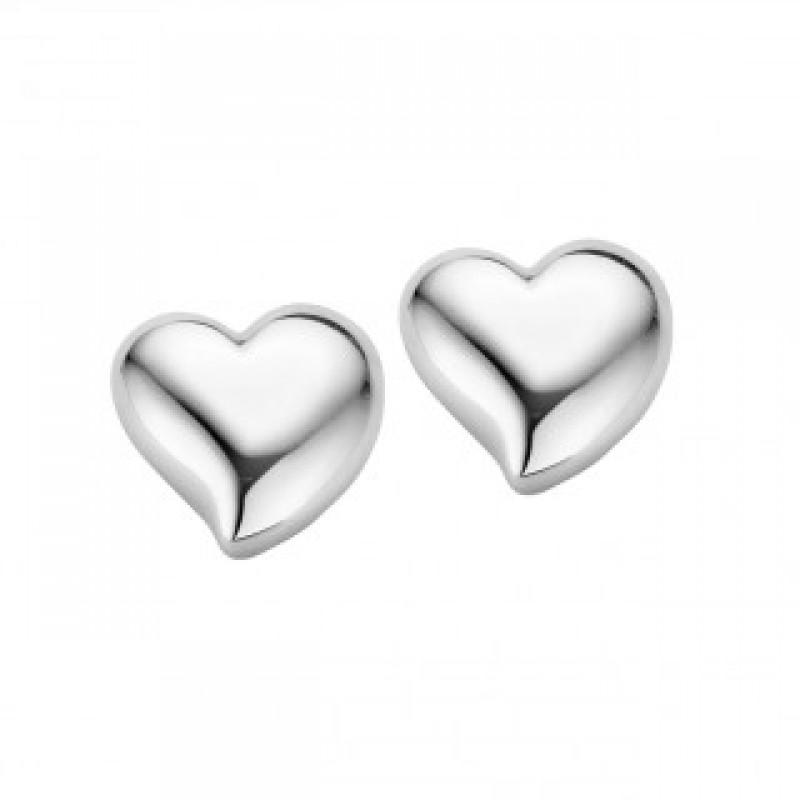Heart ørestikker, hvidguld