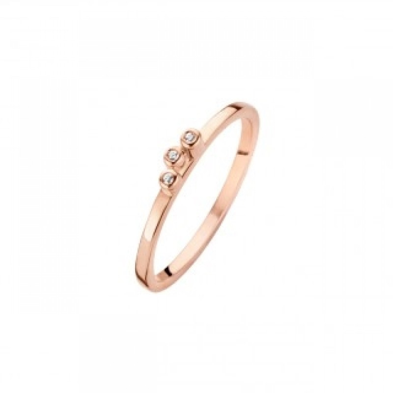 Bliss ring, rosa forgyldt