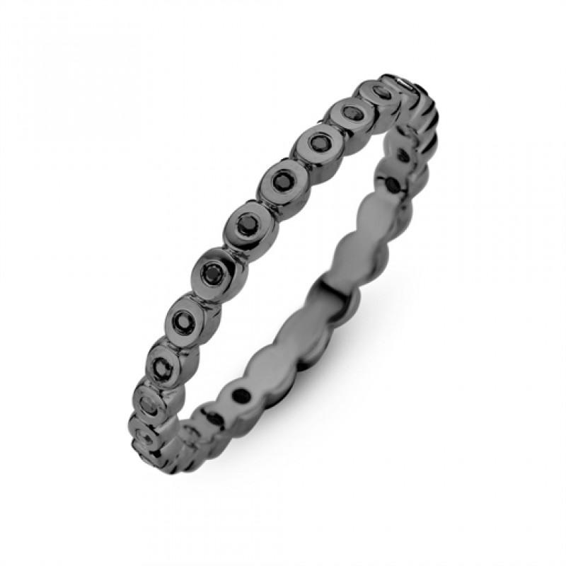 light ring sort rhodineret