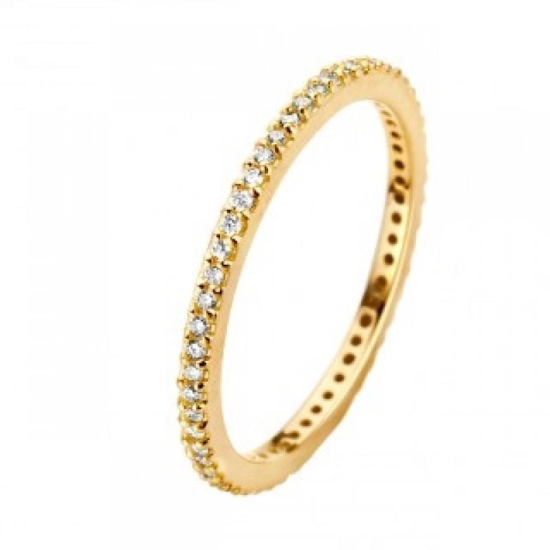 Chic ring, rødguld 1,5 mm
