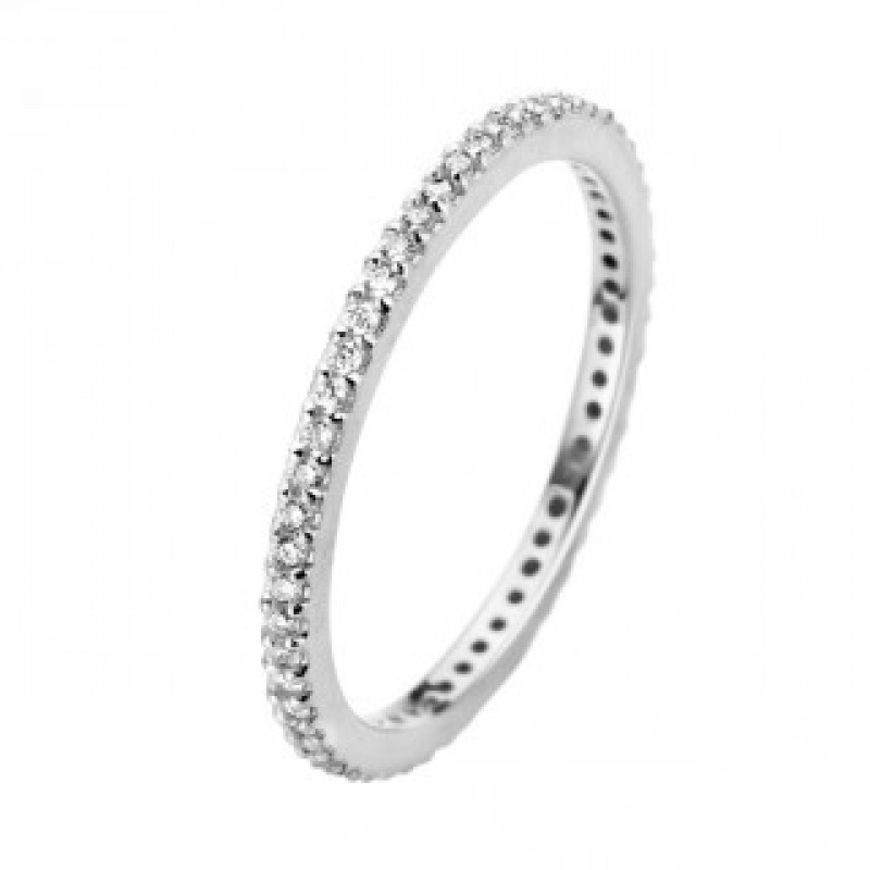 Chic ring, hvidguld 1,5 mm