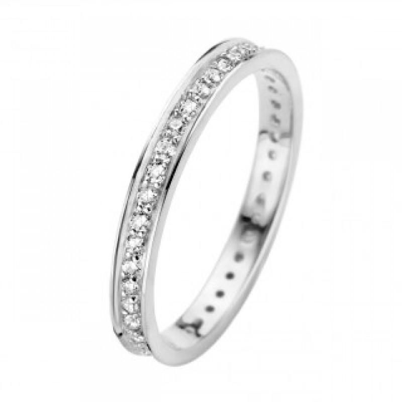Chic ring, hvidguld 2,5 mm