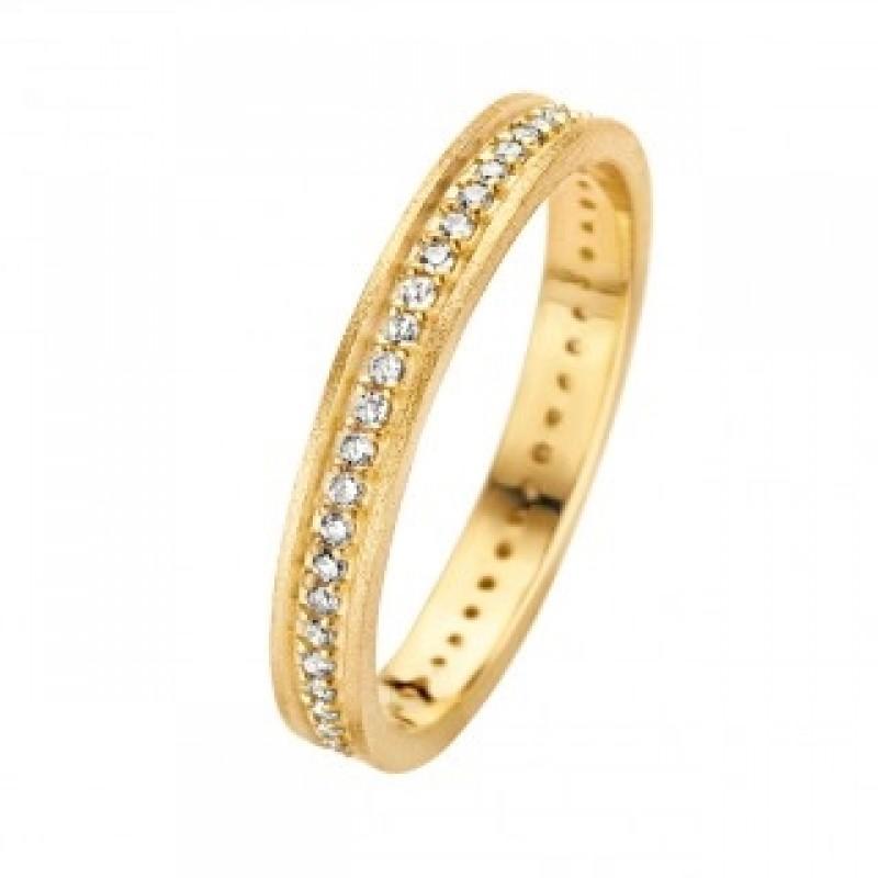 Chic ring, rødguld 3 mm