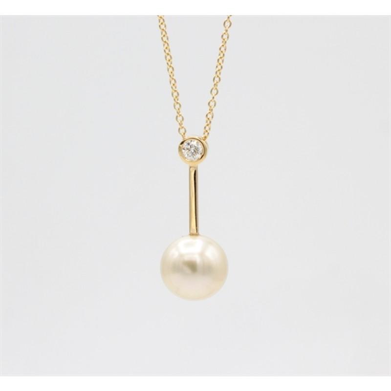 Pearl 14 kt halskæde, lang