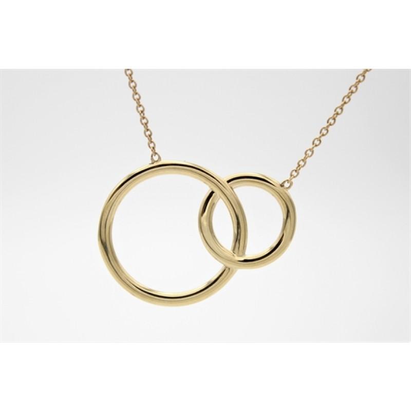 Circle 8 kt halskæde