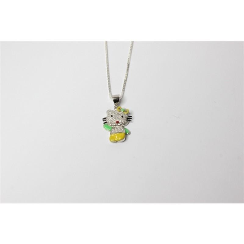 Sølv halskæde med Hello Kitty