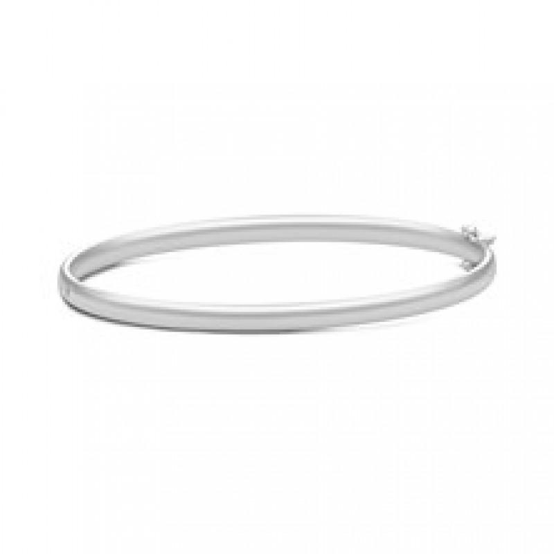CLASSIC Armring sølvrhodineret