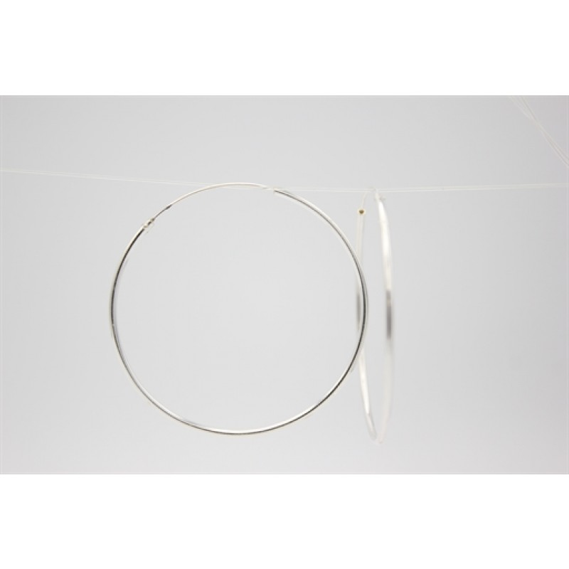 Sølv creoler, 45 mm