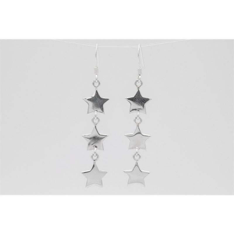 Stjerne sølv ørehængere