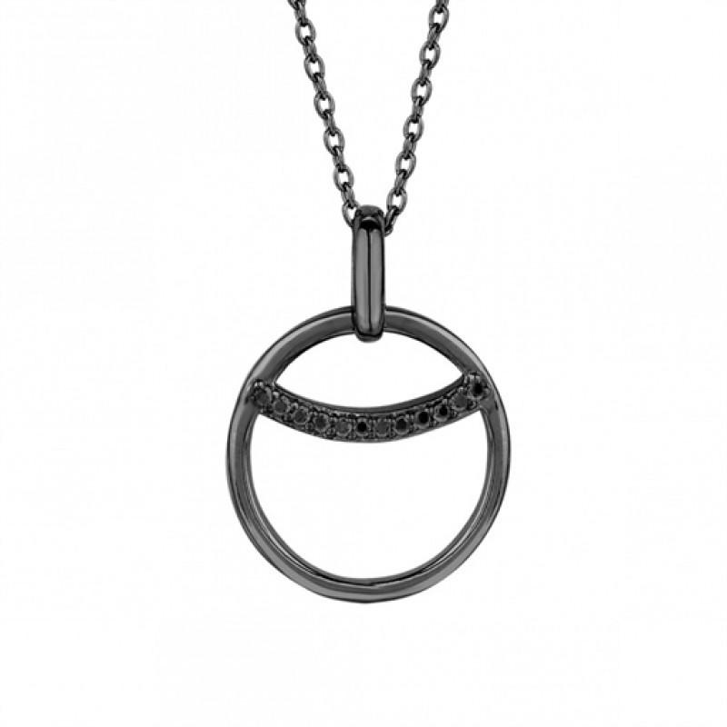 Eclipse halskæde, sort