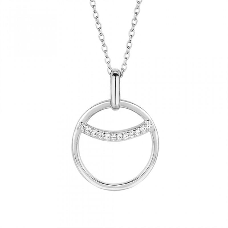 Eclipse halskæde, 45 cm sølv