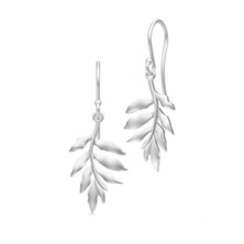 TREE OF LIFE øresmykker små sølvrhodineret