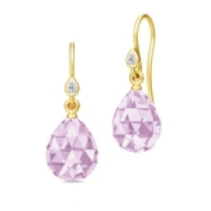 BALLERINA ørehængere lavender krystal