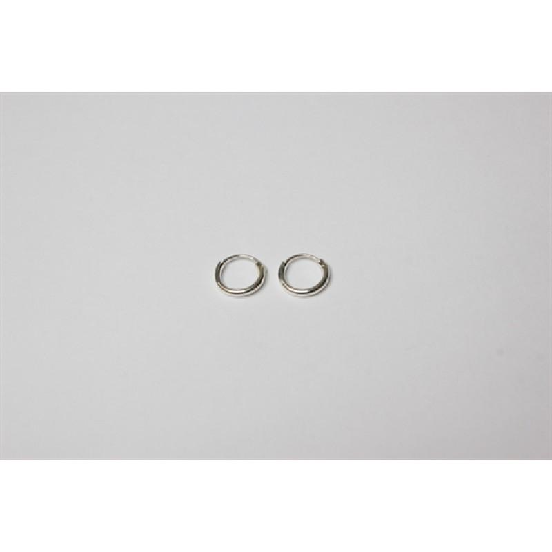 Sølv creoler tynde, 8 mm