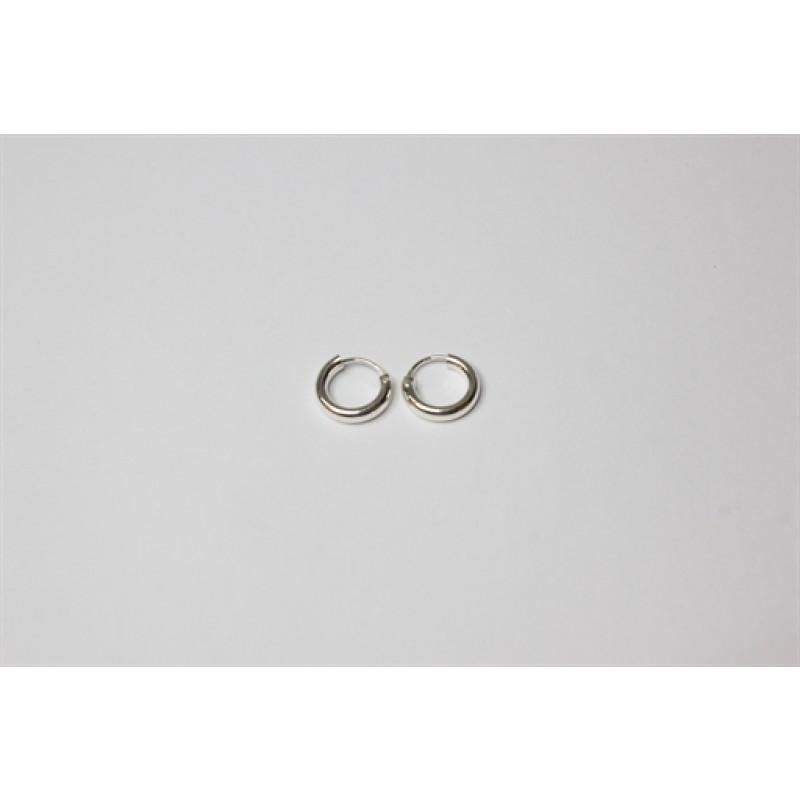 Sølv creoler tykke, 10 mm