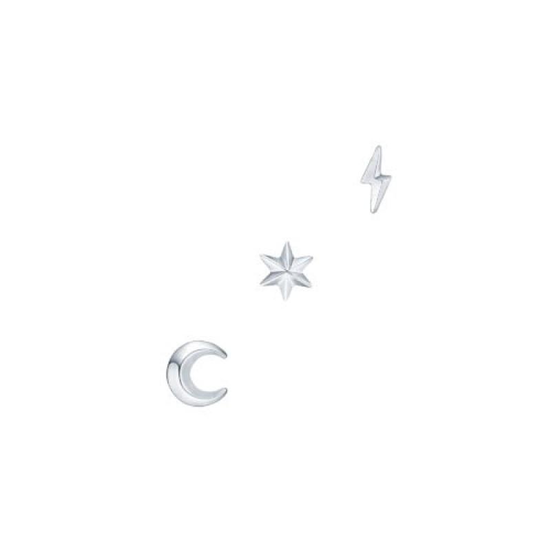 Astro Trinity ørestikker, sølv