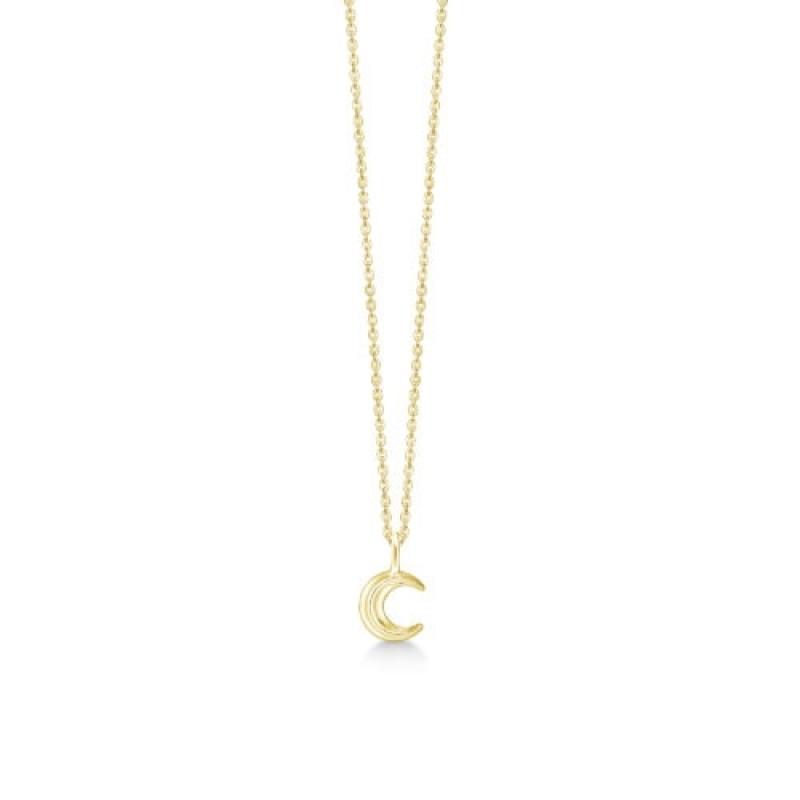 Cresent Moon halskæde, sølv
