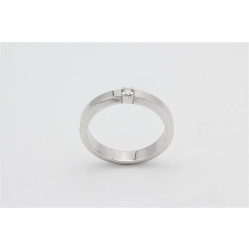 AAGAARD 14 kt hvidguld ring med 0,04 ct brillant