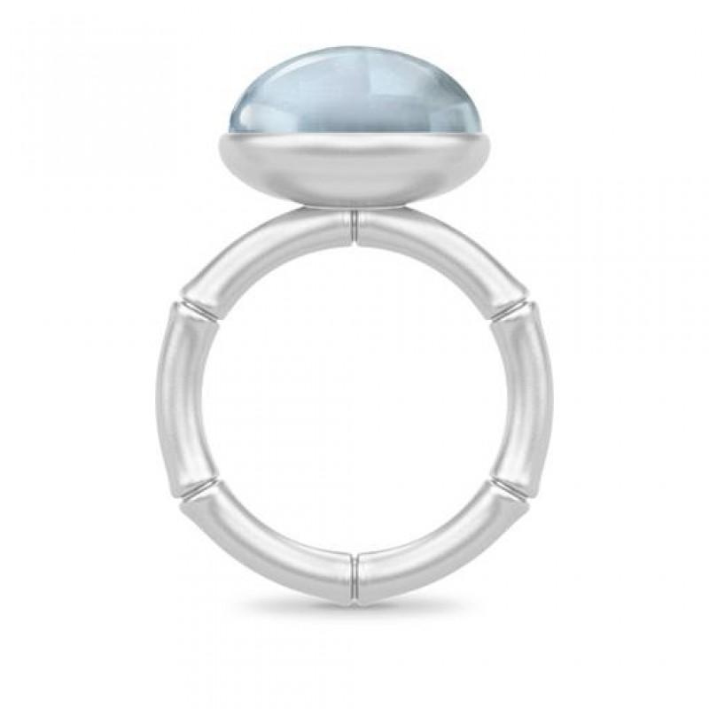 BAMBOO Sølv Wisdom Ring Aqua Blue-01