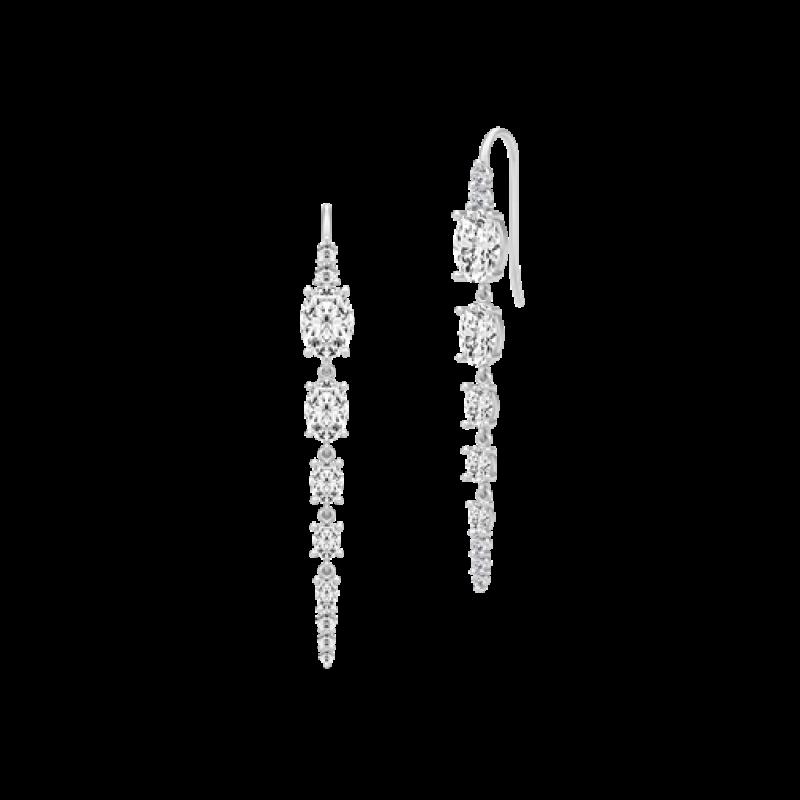 GLAMOUR Sølv Chandelier Ørehængere