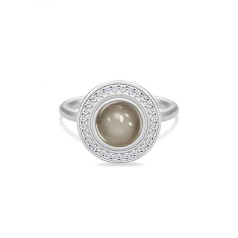 Luna Sølv Ring Grå