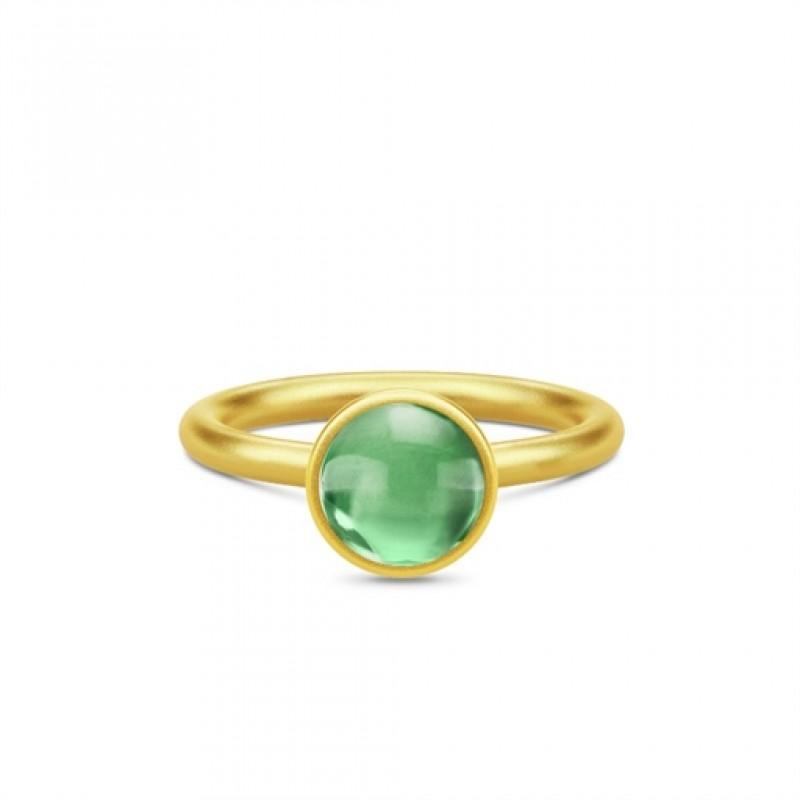 PRIME Forgyldt Ring Grøn