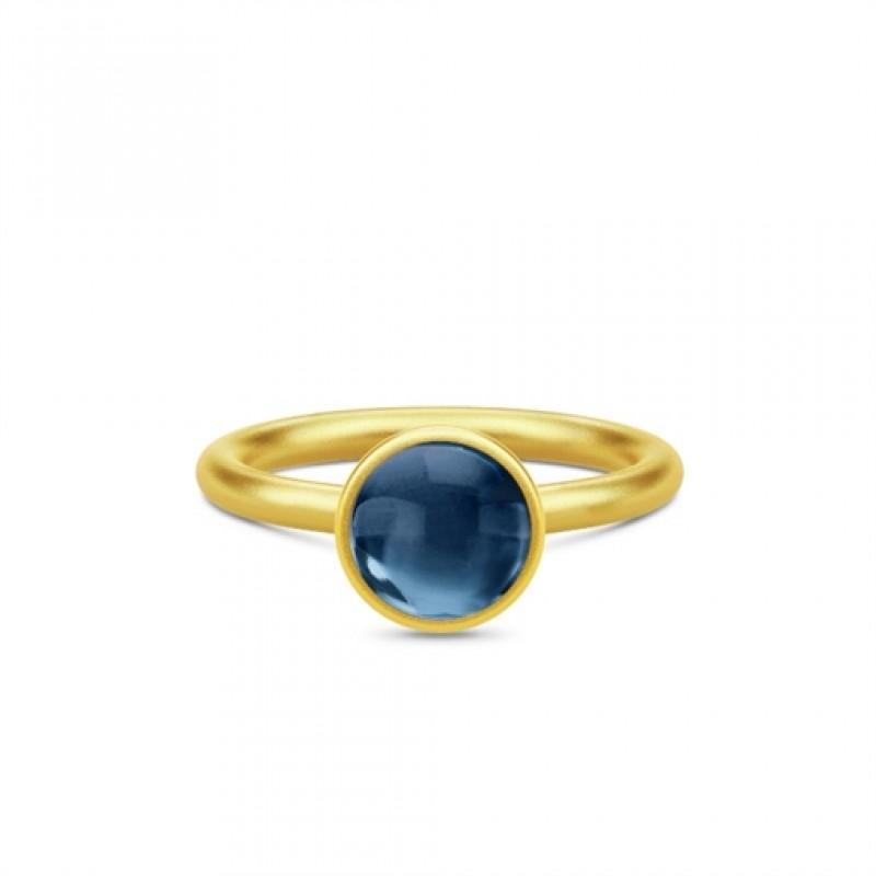 Primini Forgyldt Ring Safir Blå