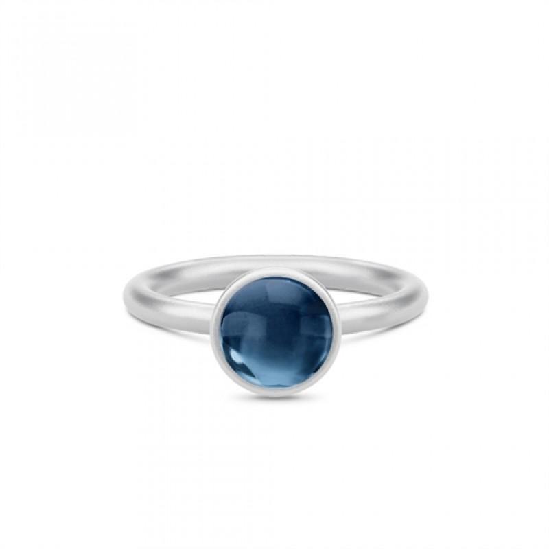 PRIME Sølv Ring Safir Blå