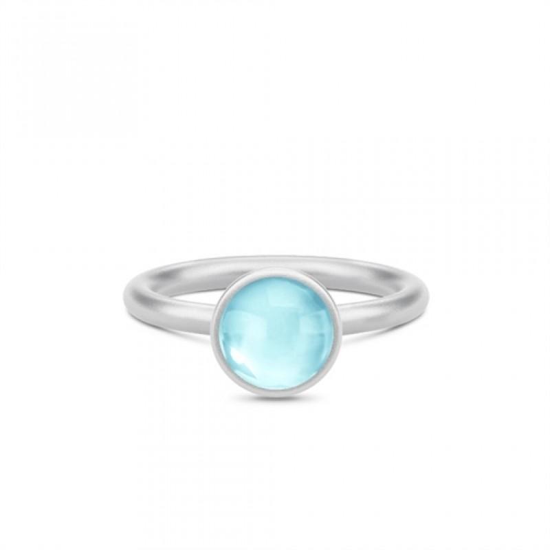 PRIME Sølv Ring Himmel Blå