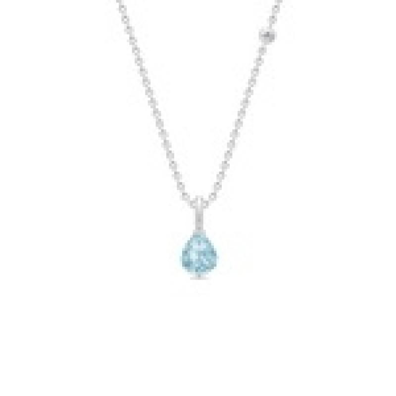 EVENING DEW sølv collie med blå krystal