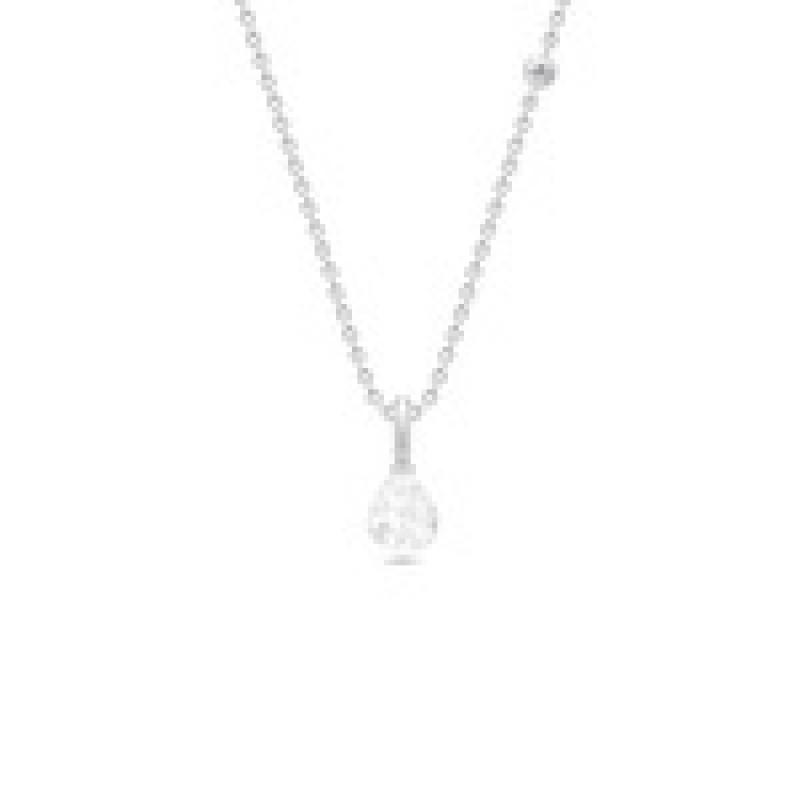 EVENING DEW sølv collie med klar krystal