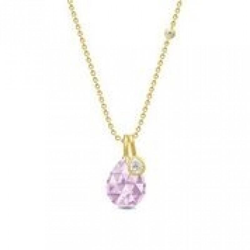 BALLERINA halskæde lavender krystal
