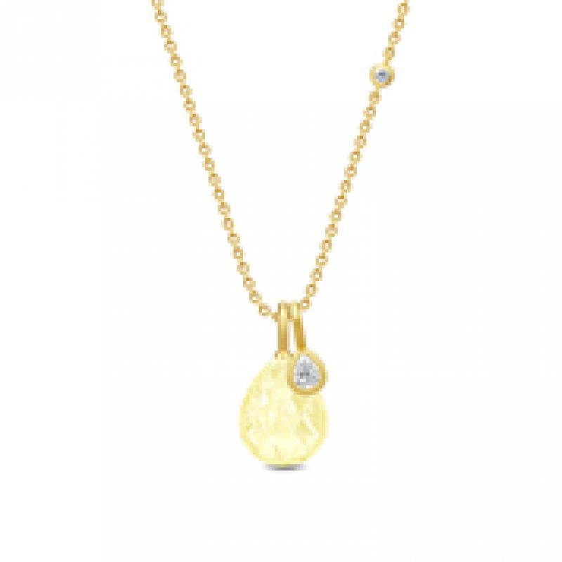 BALLERINA halskæde lemon krystal
