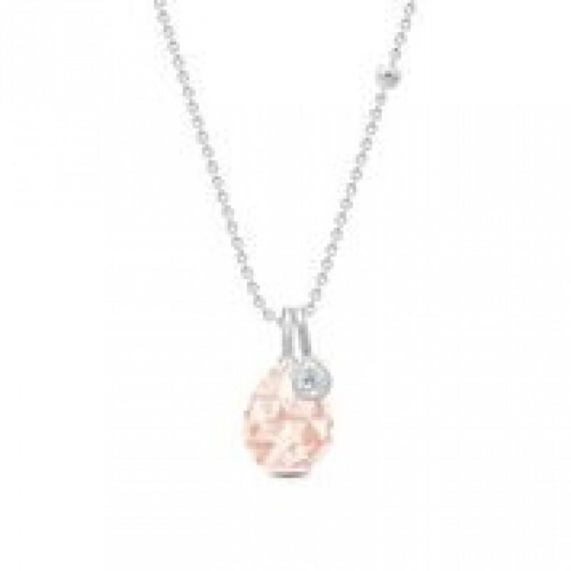 BALLERINA halskæde morganite krystal sølv