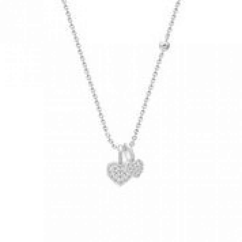 PURE HEART halskæde sølv