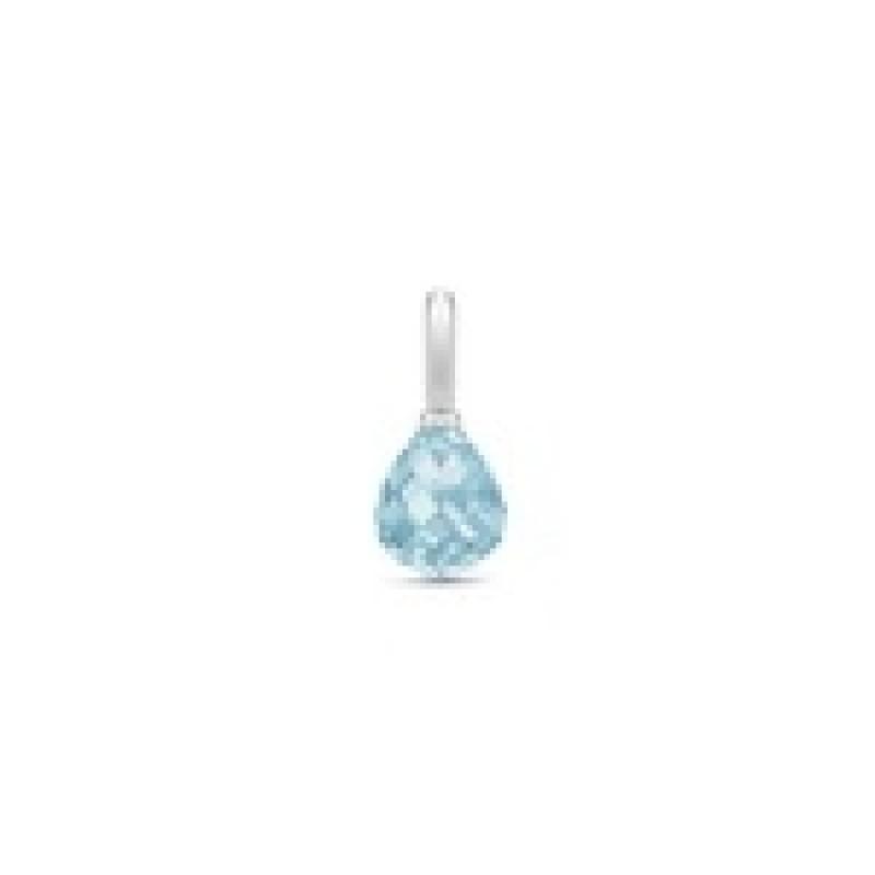 EVENING DEW vedhæng blå krystal sølv